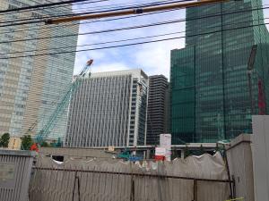 六本木三丁目東地区の再開発現場