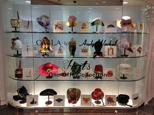 アンディ・ウォーホルのデザイン画をもとにした帽子
