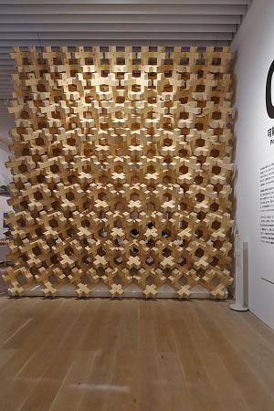 ミラノ万博2015・日本館の立体木格子(設計 北川原 温)